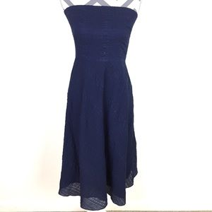 NWT J. Crew Navy Cotton Strapless Dress Size 4